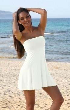 sexy strand bandeau mini jurk babydoll met strass. Black Bedroom Furniture Sets. Home Design Ideas