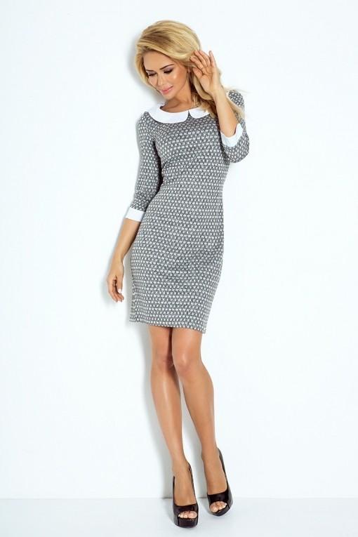 zakelijke jurk met een kraag - zakelijke jurken - modetotaal dames