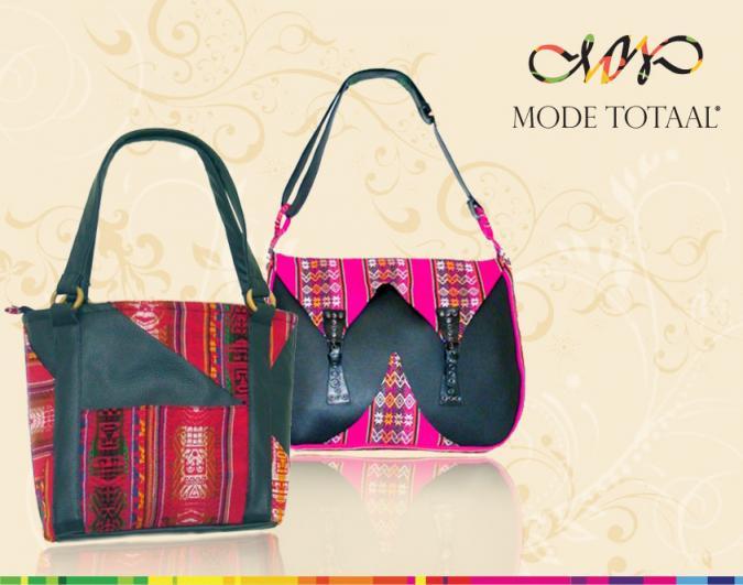 tassen met Peruaanse textiel
